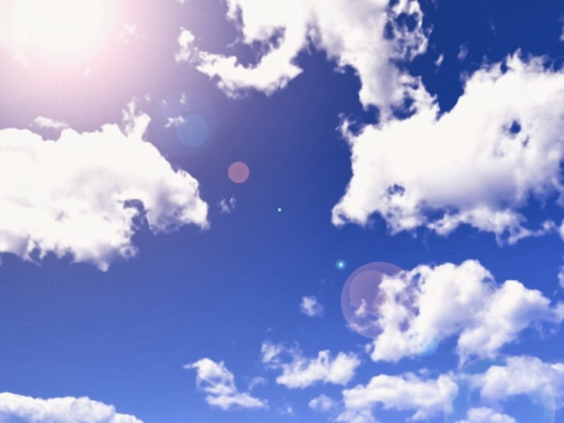 Anime Landscape Blue sky and white clouds Anime Background